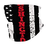 Washington DC Bandera roja de línea Delgada Varios pañuelos pasamontañas Bandanas Calentador de Cuello