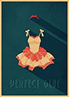 アニメポスターとプリントホットパーフェクトブルージャパニーアニメクラシックコミック映画アートクラフト紙ポスター絵画家の装飾 (Color : 14, Size : 42x30CM 16x11inch)