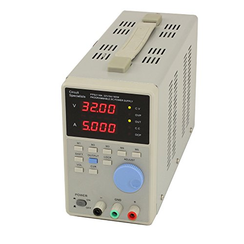 Circuit specialists | 32 Volt DC 5.0 Amp Programmable Linear Power Supply, PPS2116A, Low Ripple, High Resolution: 10mV, 1mA, Selectable auto-Serial or Parallel Function