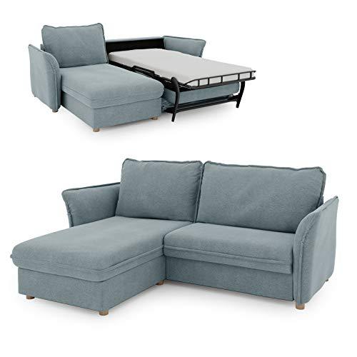 place to be. Schlafsofa Insideout 85 mit Recamiere Links als Tagesbett mit 85 x 200 cm Liegefläche Salbei Eiche massiv