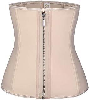 SYMG Women's Waist Trainer, Reinforced Neoprene Waist, Zipper + Inner-breasted Corset, Fitness, Abdominal Shaping, Postpartum Repair shapewear women (Size : XS)