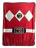 Power Rangers Red Ranger Fleece Soft Throw Blanket