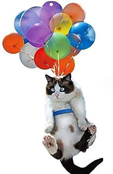 Barbas & Zacári Cat Car Hanging Ornament Cat and Balloon Car Hanging Ornament Cat Lover Cat Car Hanging Ornament with Colorful Balloon Best Gift for Cat Lovers