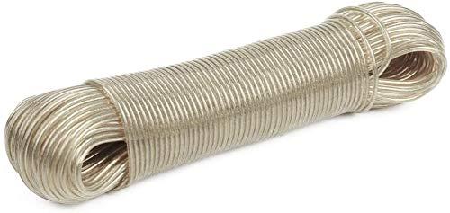 B&F Cuerdas para Tendedero 10M 3mm y Tender Ropa/Tendedero/Cuerda para Colgar Ropa/Cuerda para Tender Ropa Elástico/Gran Resistencia/Gran Almacenaje (Alambre)