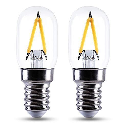 Kerzenlampe E14 12V LED Warmweiß 2700K, 150LM, AC/DC 12V LED Filament Vintage, 1.5W Ersatz 10W-15W Glühlampe, Nicht Dimmbar, E14 Klein Kerze für Dekolampe/Gartenhaus/Wohnwagen, 2er-Set