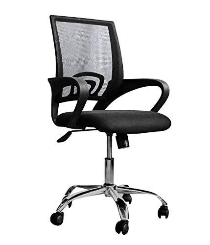 Silla para oficina ajustable base metalica Sillon ejecutiva – Negro