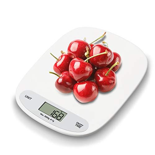 IceFrog Küchenwaage Digitalwaage Professionelle Waage Electronische küchenwage, Digitale Haushaltswaage Digital mit LCD Display-wunderbare Präzision auf bis zu 1g - 5kg Maximalgewicht