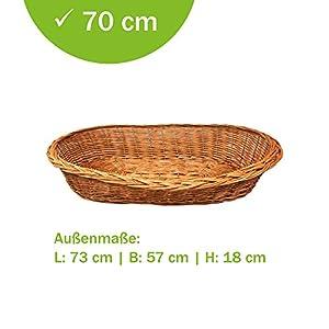 Panier en osier pour chiens sont confortable et urgemütlich pleine en geschälten naturbraunen Weiden le Panier pour chien est extrêmement solide le Panier est un produit naturel pur