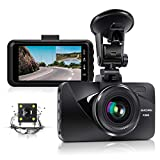 Dual Dash Cam Car Dashboard Camera Recorder FHD 1080P Front and Rear Cameras for Cars, Driving Loop Recording, 3.0' IPS Screen 170°Wide Angle, G-Sensor, Night Vision