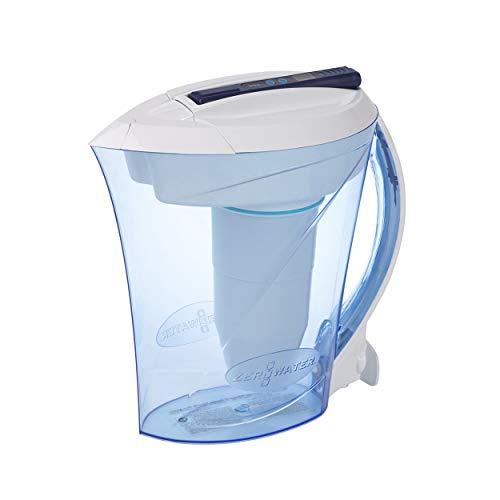 Caraffa filtrante con capienza di 2,4 litri, include gratis un misuratore della qualitá dell'acqua| Plastica priva di BpA e certificato per la Riduzione di Piombo e Altri Metalli Pesanti