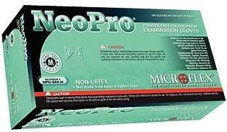 Microflex NPG-888-S Neopro Exam Gloves, PF Chloroprene, Latex-Free, Textured Fingers, Green, Small, 100 per Box, 10 Box per Case (Pack of 1000)