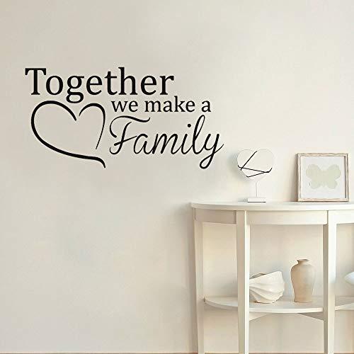 Tianpengyuanshuai muurstickers, vinyl, zelfklevend, voor slaapkamer, woonkamer, decoratie van het huis, familie