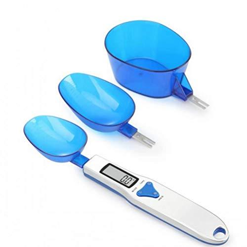 Zonster 3 Piezas de 500 g/Escala de medición portátil Cuchara balanza de Cocina de Alimentos a Granel 0.1g LCD Digital Cuchara dosificadora