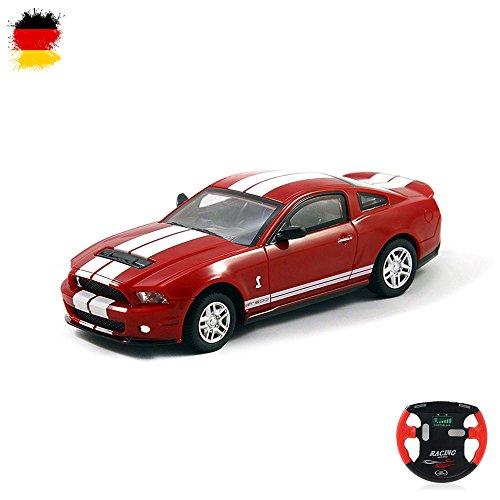 HSP Himoto Ford Mustang GT500 - RC Mini 1/43 Maßstab Lizenzauto, ferngesteuertes Fahrzeug, Auto, Car, Modellbau, Akku integriert, Fernsteuerung mit Ladefunktion, Neu OVP