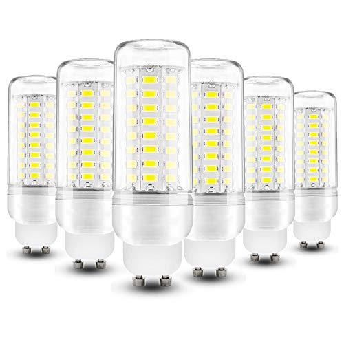 YDHNB GU10 Bombillas LED 12W 1350LM, 6000K Blanco Frío Lámpara LED GU10, Lámparas Halógenas Equivalentes a 100W, No Regulable, Angulo de Haz de 360°, Caja de 6 Unidades,110V