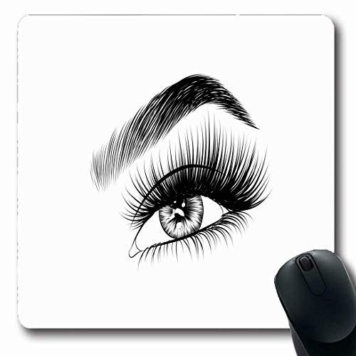 Luancrop Mousepads für Computer Wimperntusche Augenbrauen Handgezeichnetes, frisches Make-up...