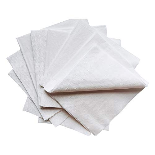 2Ply 150 Pack White Disposable Napkins White Dinner NapkinsSoft and Absorbent For Kitchen Parties Weddings Dinners or Events