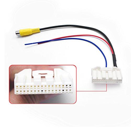 Feeldo 32-pins Parking inverse Caméra arrière vidéo Plug convertisseur adaptateur de câble Car Head Unit