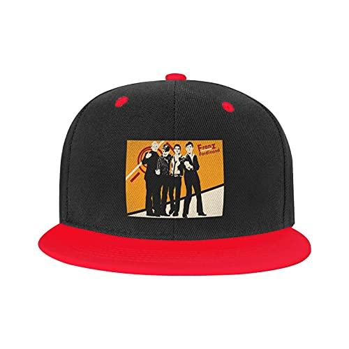 Marat Gorra Hip-Hop Franz Ferdinand ajustable Trekking Unisex Sport Hat Blanco, rosso, M