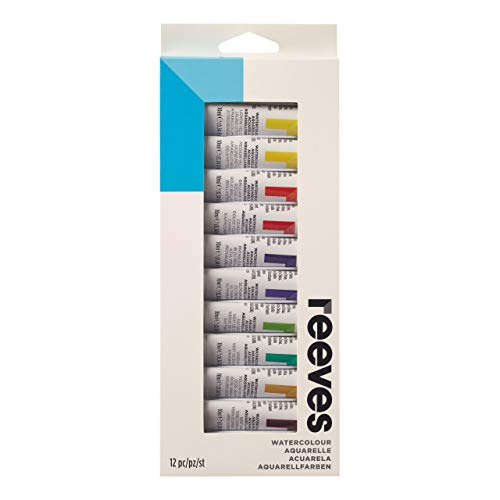 Reeves Watercolor Paint 10ml Tubes, Set of 12, Water Colour