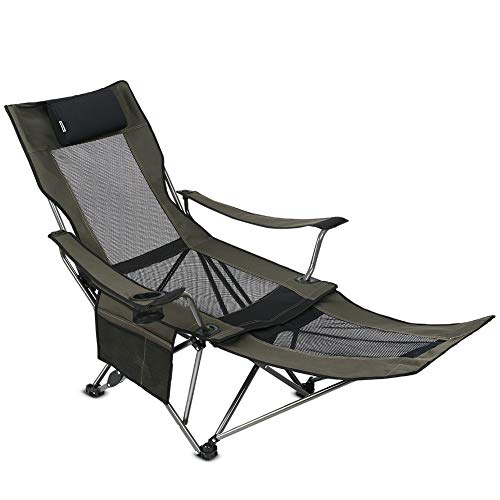 commercial OUTDOOR LIVINGSUNTIME Mesh foldable portable camp chair with removable footrest camping chair footrest