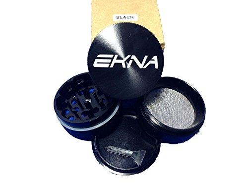Imagen del producto EKNA Grinder aluminio Grinder de aluminio Molinillo de Aluminio de 4piezas, 50mm, altura aprox. 4m CNC. En negro con logo,