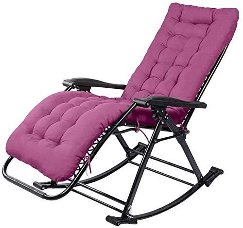 WXF Sillas de Camping Sillas Plegables de Camping con la Gravedad Cero Descansa En La Silla de Camping acampa Portable Conveniente for sillas de jardín, Apoyo a 240 Kg (Color : Blue)