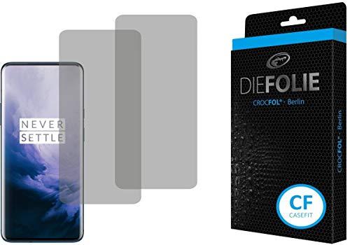 Crocfol Schutzfolie vom Testsieger [2 St.] kompatibel mit OnePlus 7 Pro - selbstheilende Premium 5D Langzeit-Panzerfolie - für vorne, hüllenfre&lich