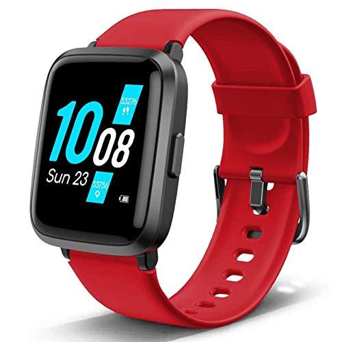 Lintelek Smartwatch Health & Fitness, Tracker di attività con Schermo Full-Touch con Ossigeno nel Sangue, Pressione sanguigna, frequenza cardiaca, monitoraggio del Sonno, contacalorie Contapassi