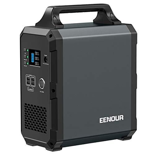 EENOUR ポータブル電源 EB120 超大容量 324000mAh/1200Wh 家庭用蓄電池 純正弦波 PSE認証済 AC(1000W 瞬間最大2000W)/DC/USB出力 Power Delivery対応 急速充電 50Hz/60Hz切替可 ソー