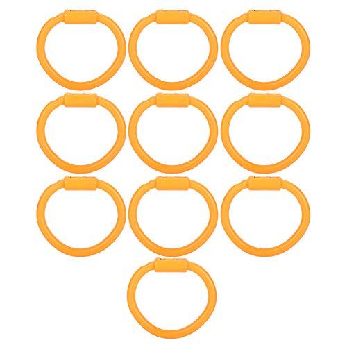 Bigking Bull Nose Ring,10Pcs Nylon Bull Nose Ring Accessory for Cattle Cow Farm Livestock Animal Equipment