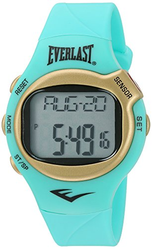 Everlast 'Heart Rate Monitor' Automatic Plastic and Rubber Fitness Watch, Color:Green (Model: EVWHR005G-TQ)