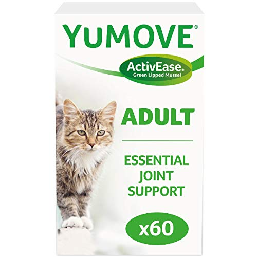 Lintbells | YuMOVE Cat | Hip and Joint Supplement for Stiff Cats, All Ages and Breeds | 60 Capsules