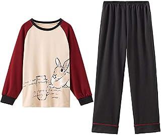 Pijamas Invierno Mujer - Moda Conjunto de Ropa de Dormir Chicas 2 Piezas Ropa de Casa de Primavera Camisa de Manga Larga y Pantalón Largo Cálido y Suave