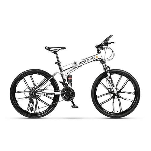 DOMDIL- Bicicletas Montaña Plegables, Mountain Bike Unisex, 24 Pulgadas, MTB para Hombre/Mujer,...