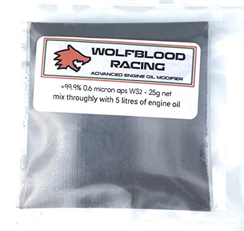 Wolfblood Racing Oil Modifier  99,9% 0,6 Mikron APS WS2 Pulveröl Additiv 25 g – behandelt 5...