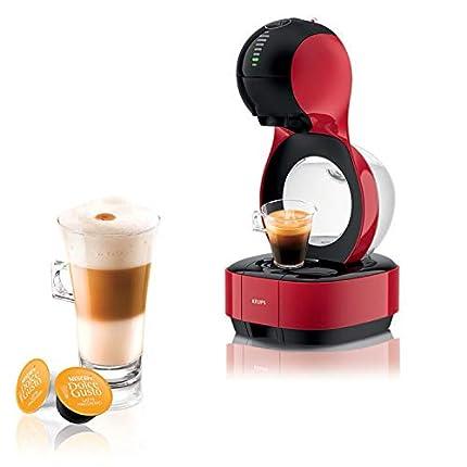 Krups Lumio Roja KP1305- Cafetera de cápsulas Dolce Gusto Nestlé automática 1600 W de 15 bares de presión, depósito de 1 L para bebidas calientes y frías, color blanco