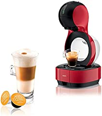 Krups Dolce Gusto Lumio KP1305 - Cafetera de cápsulas, 15 bares de presión, color rojo