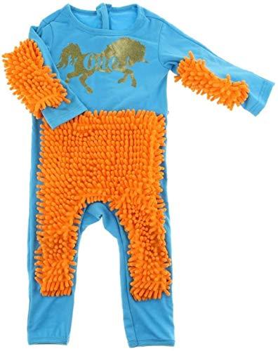 hsj Spielzeug Baby Mop Body Outfit Unisex Junge Mädchen Polituren Fußboden Wischmopp Anzug Herbst-Winter-Kinder-Crawling Kleinkind Swob Overall Exquisite Verarbeitung