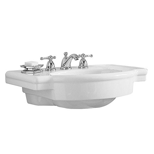 American Standard 0282.008.020 Retrospect Pedestal Console Sink Top with 8-Inch Faucet Spacing, White