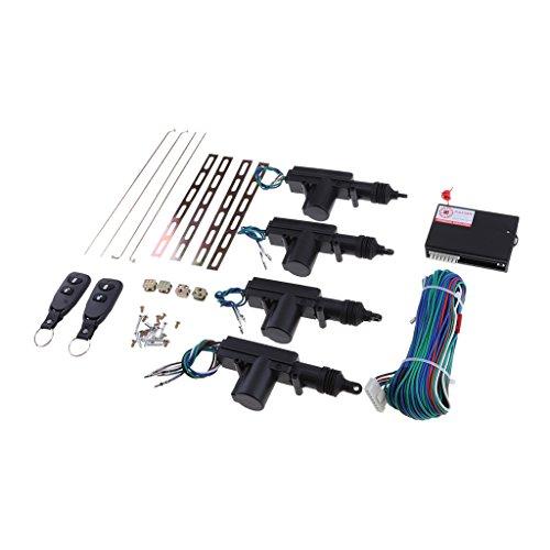 Sharplace Kit de Fermeture Central Verrouillage Système D'Entrée Voiture sans Clés - 4 Portes avec 2 télécommandes