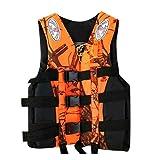 Tantrum Tow Ropes Fashion Adults Life Jacket Aid Vest, Life Jacket with Whistle for Men Women,Kayak Ski Buoyancy Fishing Boat Watersport Life Jacket (Orange, XXXL)