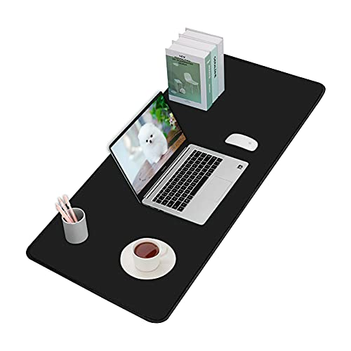 Hvanhome Large Mouse Pad, (35.4 x 15.7in, Upgraded) Extended Gaming Mousepad with Non-Slip Rubber Base, Computer Keyboard Mouse Mat with Stitched Edges, Desk Pad Protector for Office and Home