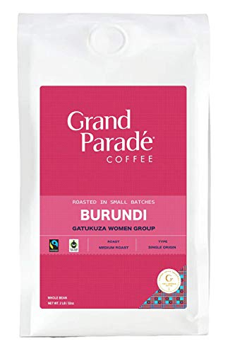 Grand Parade Coffee, Burundi Medium Roast, (2 lbs) Whole Bean, Fresh Roasted Gourmet Single Origin, Women Produced, African Arabica Coffee, Fair Trade, 2 Pound Bag