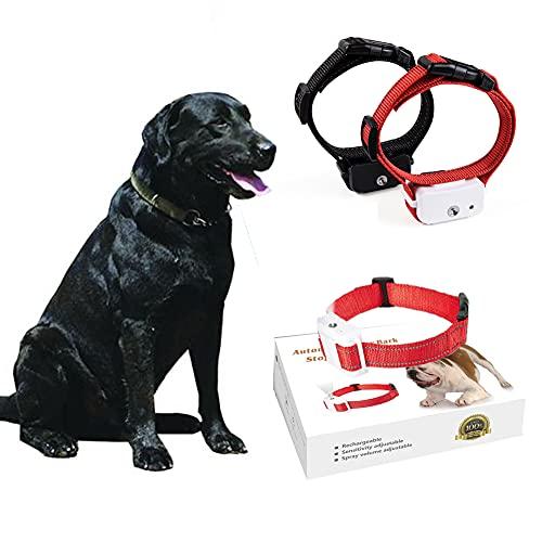 Antibell Halsband Hund Erziehungshalsband Hund Spray Erziehungshalsband Hund Wasserstrahl Reflektierendes Vibrationshalsband füR Hunde Hundehalsband füR Kleine Hund,GroßE Hunde (rote)