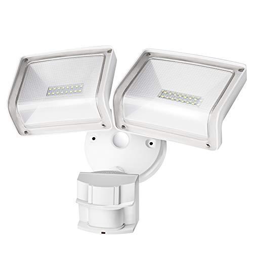 Amico LED Security Lights Motion Sensor Outdoor, Full Metal Oversized Lighting Angle Adjustable Head...