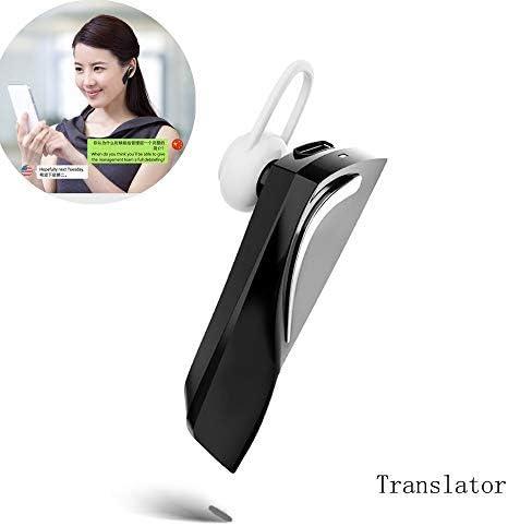 Oumij Bluetooth Wireless Smart Translator Portable X9 Intelligent Multi-Language Voice Translator 40 Idiomas Bidireccional en Tiempo Real para Aprendizaje Blanco Viajes Negocios y Reuniones