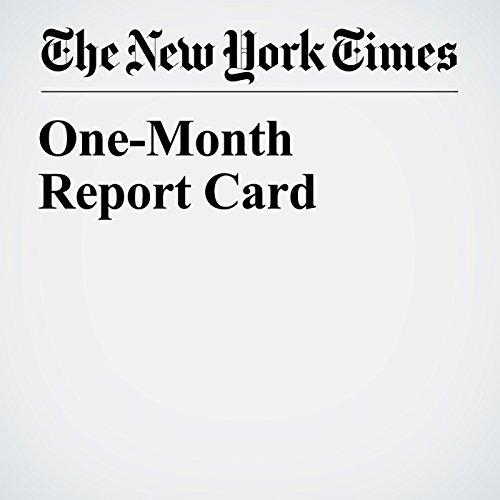 One-Month Report Card copertina
