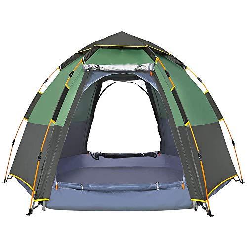 Liu Yu·casa creativa Tienda De Campaña Instantánea Impermeable 2-3 Persona Fácil Configuración Rápida Cúpula Tiendas De Familia A Prueba De Viento para Acampar Al Montañismo (Color : Green)