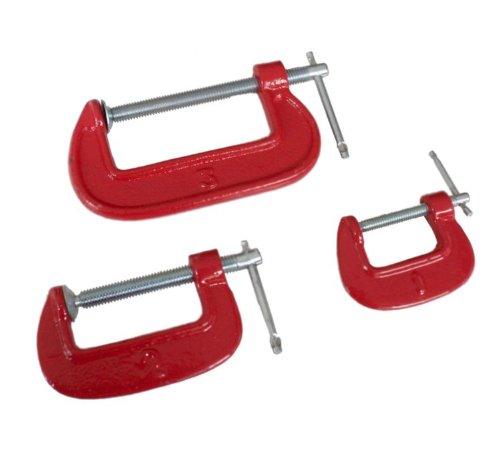 3 tlg. C-Schraubzwingen 25-50-75mm | Schraubzwingen | Leimzwingen | Zwingen Set